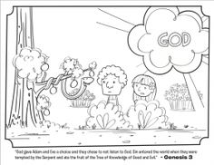 Adam Eve have to leave the Garden Coloring Pages children