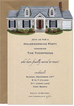 Housewarming Invites Collection  Kinda DidnT Want To Pay For