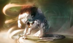 Confrontation - Werewolf Calendar by Lhuin on DeviantArt Anime Wolf, Pet Anime, Anime Animals, Fantasy Wolf, Fantasy Art, Wolf Hybrid, Cartoon Wolf, Wolf Illustration, Wolf Pictures