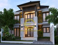 Desain Rumah 2 Lantai 4 kamar Lebar Tanah 9 meter dengan ukuran Tanah 1 are/100m2