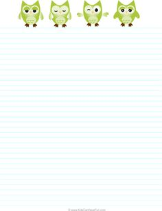 Green Owl Travel Ruled Paper for on the Go