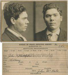 Antique Photos, Vintage Photographs, What Is A Portrait, Police Detective, Antique Signs, Shot Photo, Interesting Faces, Mug Shots, Crime