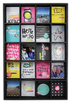 Here We Go Photo Tray by @Crafts Direct - created using wood photo tray and @American Crafts @Amy Tangerine Plus One collection. Click through link for supply list and project instructions.