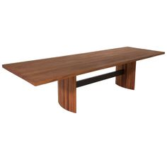 Jantar Alloy Dining Table in solid Mahogany by Thomas Hayes Studio | From a unique collection of antique and modern dining room tables at http://www.1stdibs.com/furniture/tables/dining-room-tables/