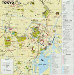 Plattegrond van Tokio