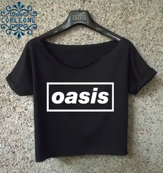 2b2f46fdfe5951 oasis band shirt indie band cropped tee women black and white crop top
