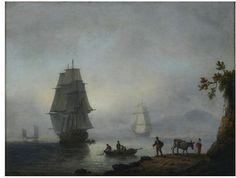 Sea Piece: Ships under Sail | Luny, Thomas, late 18th century-early 19th century