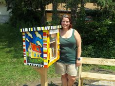 Shawna Traver. Roseville, MN. I am a teacher and librarian and I have many books. Instead of selling these extra books, I wanted a way to get them into hands of readers. I decided that I really wanted to put in a Little Free Library as a way to give these books back to the community. The artist-in-residence at my school painted my library and it looks amazing! The Oakcrest Book Nook Little Free Library is open for business!