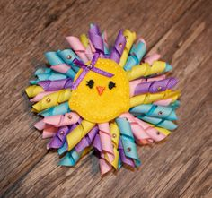 Easter Hair Bow Little Chick by prissypairs on Etsy, $9.00