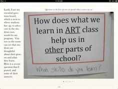 Essential Art Questions idea :)