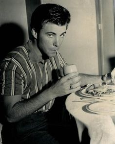 sippin' a milkshake like a good 50's boy :)