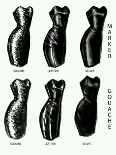 Drawing leather designs