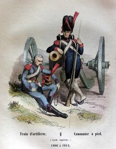 French Imperial Guard- driver of the artillery train & foot artillery gunner