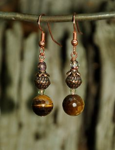 faceted tigereye, copper, crystal