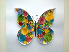 Paper Quilling: Butterfly Quilling Tutorial. - YouTube