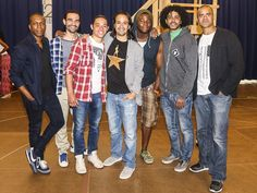 Photo 1 of 12   Leslie Odom Jr. and Lin-Manuel Miranda are thrilled to be heading to Broadway in Hamilton!   Photos! Step Inside the Rehearsal Room with Lin-Manuel Miranda & the Cast of Broadway's Hamilton   Broadway.com