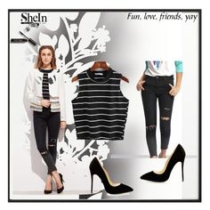 """""""Shein 39"""" by zerina913 ❤ liked on Polyvore featuring By Lassen, Élitis, Bobbi Brown Cosmetics and shein"""