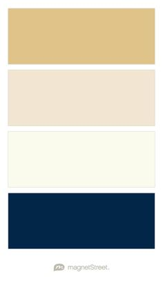 Gold, Champagne, Ivory, and Navy Wedding Color Palette - custom color palette…