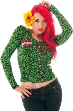 Too Fast Zombie Girl Embroidered Cardigan