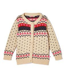 Cream Hearts Cardigan - Infant Toddler & Girls