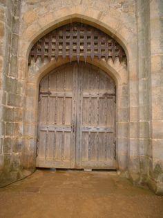 Doors of Bodiam Castle Castle Doors, Castle Gate, Castle Ruins, Chateau Medieval, Medieval Castle, Medieval Fantasy, Bodiam Castle, Old Abandoned Buildings, Castles In England