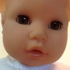 Zapf Baby Doll 20 Inches GiGi Soft Body Sleepy Brown Eyes Bald Sits Outfit #Zapf