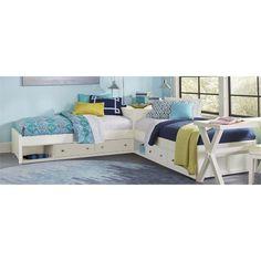 NE Kids Pulse Twin L Shaped Storage Platform Bed in White - Lowest price online on all NE Kids Pulse Twin L Shaped Storage Bed in White – - Cama Ikea, Ikea Bed, Home Decor Furniture, Furniture Plans, L Shaped Beds, Memory Foam, Bedding Master Bedroom, Girls Bedroom, Platform Bed Frame