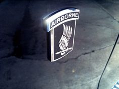 173rd Airborne Emblems. Get rid of those old faded decals and slap some nice chrome on your vehicle. Ride with Pride!