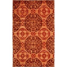 Wyndham Cinnamon (Red) 4 ft. x 6 ft. Area Rug