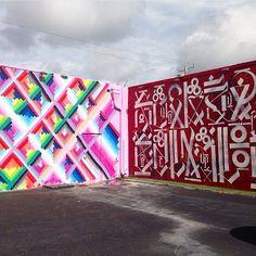 #retna #mayahayuk #streetart #mural #murals #graffiti #art #artists #artist #miami #artbaselmb #artbaselmiami #artbasel2014 #artbasel2013 #artfair #fineart #design #color #rainbow