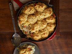 Turkey Biscuit Pie Recipe : Food Network Kitchens : Food Network - FoodNetwork.com