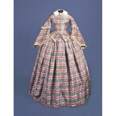 Dress about Original Owner:Possibly originally owned by Mary Jane Buel , American, 1827 - 1884 Clothing Maker:Made by Unknown . Vintage Dresses, Vintage Outfits, Vintage Fashion, Victorian Dresses, Victorian Ladies, 1850s Fashion, Women's Fashion, Historical Clothing, Historical Society