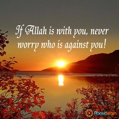 If Allah is with you, never worry who is against you.   #Islam #Faith