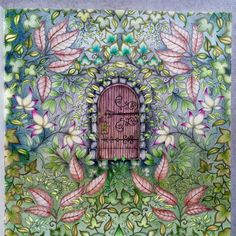 Johanna Basford | Colouring Gallery - Secret Garden - secret door