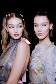 "senyahearts: ""Gigi and Bella Hadid - Backstage at Fendi, Spring 2017 RTW """
