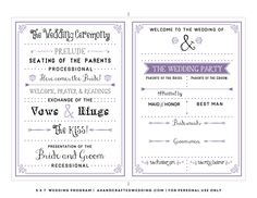 wedding_program_templates_word | party planning | Pinterest ...