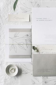 The Laurel wedding invitation suite is perfect for a minimal and organic wedding. We've included touches of classic typography, calligraphy in pencil, translucent vellum wrap with floral illustration, and varying paper colors to create the most beautiful Laser Cut Wedding Invitations, Wedding Invitation Design, Wedding Stationary, Invitation Suite, Invites, Wedding Paper, Wedding Cards, Floral Illustrations, Pencil Illustration