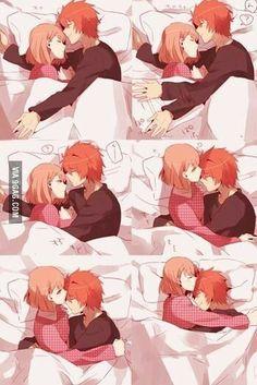 Kawaii Haruka e ittoki ( irá no Prince Sama) 😍 Anime Couples Drawings, Anime Couples Manga, Manga Anime, Anime Art, Anime Couples Cuddling, Anime Girls, Anime Couples Sleeping, Anime Couples Hugging, Romantic Anime Couples