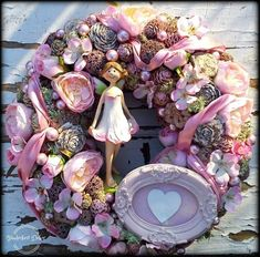 Diy And Crafts, Floral Wreath, Christmas Decorations, Easter, Spring, Flowers, Vintage, Home Decor, Holiday Wreaths