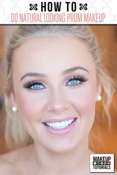 This prom makeup tutorial gives you a pretty natural look. Get glowing skin and use a pretty pink lipstick shade to give you a natural makeup look for prom.