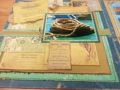 Sea Cruise Layout - 7gypsies Maritime Paper Collection - a vintage nautical line of paper and accessories - perfect for cruise, beach travel or week by the ocean. #maritime