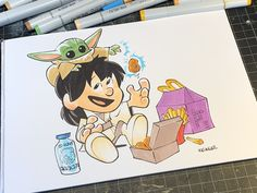 Art by Brian Kesinger Cute Disney Characters, Fictional Characters, My Dream Came True, Reylo, Location History, Twitter Sign Up, Cute Babies, Pikachu, Nerd