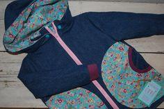 Jacken - Jeansjacke Blümchen Gr.98 - ein Designerstück von einfach-schoen bei DaWanda