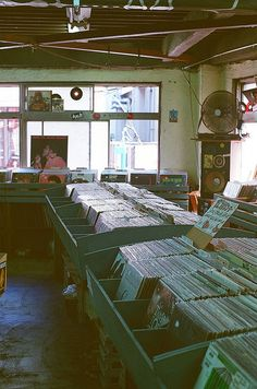 Second hand record store.