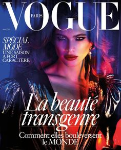 For the first time in the magazine's 97-year history, Vogue Paris put a transgender model on its cover ― Brazil's Valentina Sampaio.
