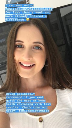 Alex is such a gorgeous girl, with a beautiful Order a kit like Alex and make your white teeth Gorgeous Girl, Beautiful, Best Teeth Whitening Kit, White Smile, Good Smile, White Teeth, Oral Hygiene, Oral Health, Makeup Inspo