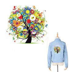Cheap stickers patches, Buy Quality patches patches directly from China patch for clothes iron Suppliers: 3D Colorful Tree Clothes Washable Stickers Patches for Men's Tops Household Iron on Transfers DIY Decoration Appliqued for Dress