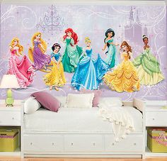 Disney Princesses Royal Debut XL Pre Pasted Surestrip Wall Mural 10.5u0027 ... Part 78