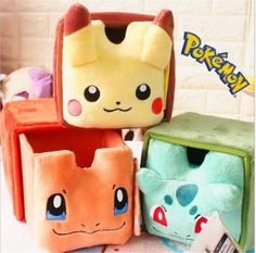 Adorkable-Pokemon-Pikachu-Plush-Storage-Organization-Box-Lovely-Doll-Toy-Gift