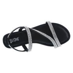 BRASH-WOMENS-MARGARITA-STRAPPY-FLAT-PAYLESS Strappy Flats, Flat Sandals, Buy Shoes, Margarita, Casual, Black, Women, Style, Fashion